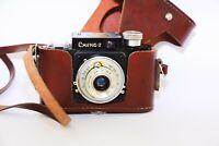RARE 1955 GOMZ SMENA-2 Second edition Soviet 35mm compact film camera EXC