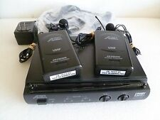 Audio 2000s AWR6032 wireless receiver 2 AWX6030M Transmitters and 4 Microphones