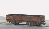 Peco NR-7EW N Gauge BR Bauxite Tube Wagon Weathered