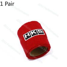 2PCS Universal Red HKS Racing Reservoir Brake Clutch Car Oil Tank Cap Sock