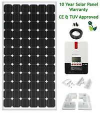 200W Mono 12v/24v MPPT Solar Panel Kit 10 Year Panel Warranty White Mounting Set