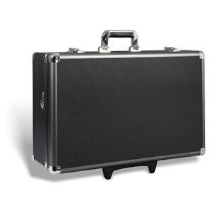 Zeikos Hard Shell Protective Storage Rolling Case w/ Strap, Black (Open Box)