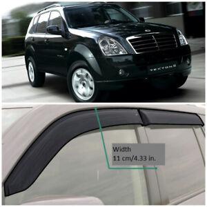 SE30202 Window Visors Guard Vent Wide Deflectors For SsangYong Rexton 2002-2012