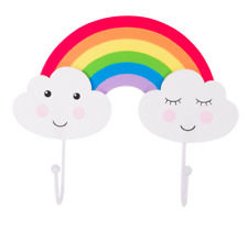 Sass & Belle Day Dreams Happy Cloud Rainbow Double Wall Hook Kids Bedroom Decor
