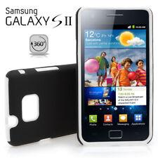 Samsung Galaxy S2 / i9100 Silikon Case Backcover schwarz / weiß