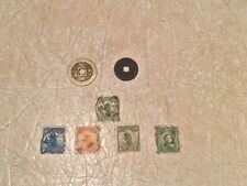 4 RARE China Junk Stamp 1926-33 2 1 4 10 Cent SUN 5C 2 Qing Dynasty Coin 1644