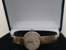 9ct rose gold ladies IWC watch (23.2g) in very good vintage condition