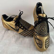 RARE Gold/Black 2009-2010 Nike Total 90 - T90 Laser II Soft Ground - Size UK 10