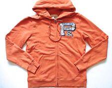Ralph Lauren Denim and Supply Vintage Orange Logo Fleece Zip Up Hoodie Jacket L