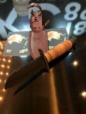 Couteau Ontario Journeyman Lame Acier Carbone 1095 Manche & Etui Cuir USA ON6155