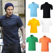 NEW Summer Mens Polo Shirt Plain Short Sleeve Baseball Sport T-Shirt Tops Casual
