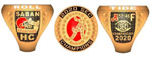 2020 ALABAMA NATIONAL SEC NCAA Football Championship Ring