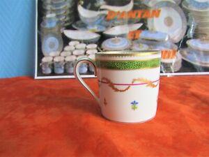 Tasse à café en porcelaine de Limoges Haviland modèle vieux paris ( 2 dispos )