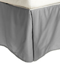 Superior 300 Thread Count Long-Staple Combed Cotton Solid Bed Skirt- Grey