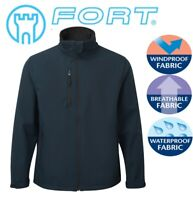 FORT BLUE Selkirk Softshell Waterproof Windproof Thermal Lined JACKET S to 3XL