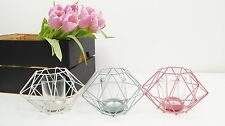 GEOMETRIC METAL CANDLE HOLDER-PINK