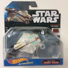 NEW! Mattel Hot Wheels Star Wars Starships Die-Cast THE GHOST Toy w Stand