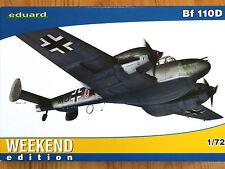 Eduard Weekend edition 1:72 MESSERSCHMITT BF 110D tedesco AIRCRAFT MODEL KIT