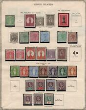 VIRGIN ISLANDS/VICTORIA: 1886-1905 Ex-Old Time Collection - 2 Sides Page (35005)