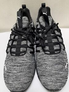 PUMA AXELION Men's Shoes 191425-04 Black/Puma White Size 11.5