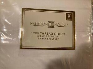 Hampton House 1200 Thread Count King Sateen Sheet Set