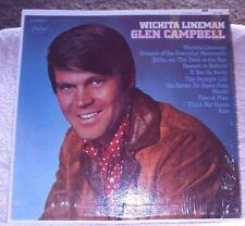 Glen Campbell WICHITA LINEMAN LP Album - Vinyl Capitol Records ST-103