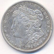 USA 1 Dollar 1921 Morgan Dollar ohne Münzzeichen Philadelphia fast vorzüglich