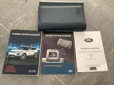 (2012 PRINT) RANGE ROVER EVOQUE (2011 - 2015) OWNERS MANUAL - HANDBOOK.