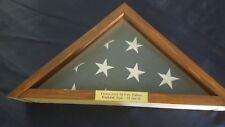 wood us flag military medal display case