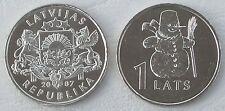 """Lettland / Latvia 1 Lats 2007 """"Schneemann"""" p85 unz"""