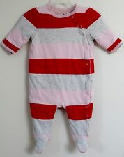 babyGAP Size 3-6 Months Multi-Color Striped Footed Padded Long Sleeve Bodysuit
