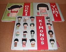 Lot of 3 Kokeshi Books - Aoki,Yumi,Kimono by Annelore Parot Hardcover Set NEW