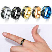 Intelligent temperature measuring ring Stainless steel Couple wedding jewelry