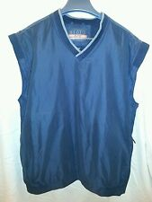 Men's Izod Golf XFG Black Vest Pullover Sweater Large NEW