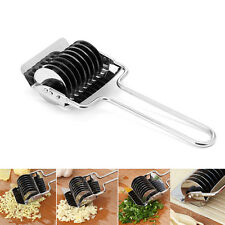 Stainless Steel Noodle Maker Rolling Cutter Spice Onion Roller Wheel Sharp Blade