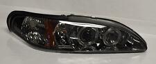 Ford Mustang 94-98 Smoke Projector LED Halo Angel Eye Headlights Pair RH LH