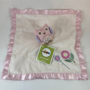Circo Plush Pink Owl Flowers Baby Lovey Security Blanket