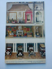 QUEEN'S DOLLS' HOUSE Garage Showing Interior Rooms Vintage Cars Raphael Tuck