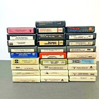 8 Track Tapes Lot of 28 Mixed Music.