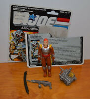 "VINTAGE GI JOE CHARBROIL LOOSE ACTION FIGURE ARAH 3.75"" 1987 HASBRO ACCESSORIES"