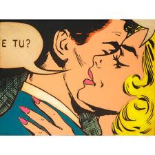 Alan DELON - E Tu - original signed contemporary print - Australian pop art