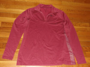 NIKE PRO DRI-FIT 1/2 ZIP LONG SLEEVE  PULLOVER JERSEY WOMENS XL EXCELLENT COND.