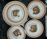 Vintage Himark Tre CI Primavera 1 serving Pasta Bowl & 4 bowls made in Italy