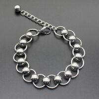 Unisex's Cool Stainless Steel Figaro Curb Chain Wristband Cuff Bangle Bracelet