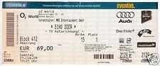 Eintrittskarte, O2 World Berlin, Echo-Verleihung 2009, mit Autogrammen