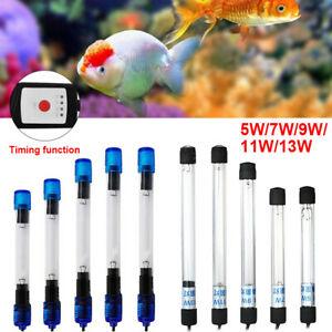 Fish Tank UV Light Sterilizer Submersible 5W-13W Aquarium Pond Clean Lamp US New
