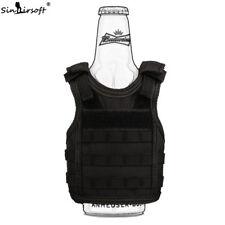 Bottle Cooler Beer Soda Beverage Mini Tactical Vest Model Cup Coolers sleeve BK