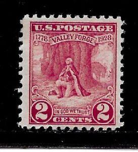 US Stamps-Scott # 645/A193-2c-Mint/NH-OG-1928-Perf. 11-Jumbo Margins-Flat Plate