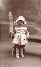 BJ264 Carte Photo vintage card RPPC Enfant jeune fille costume folklore fée