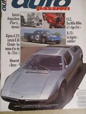 AUTO PASSION n°17: 08-09/1988 : ALPINE A 210 - MASERATI BORA - JAGUAR XJ 13